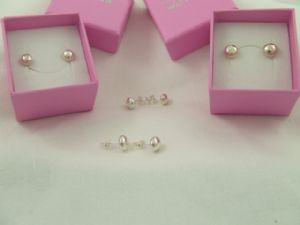 5.5mm Silver Nugget Studs
